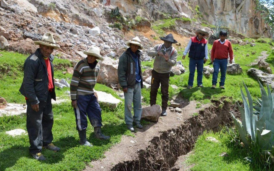 La tierra se abre en Chumbivilcas y obliga al traslado de sus pobladores